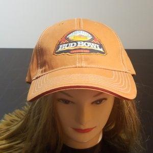 Vintage Rare 08 Budweiser Bud Bowl Strapback